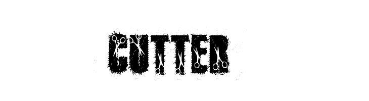 cutter  Free Fonts Download