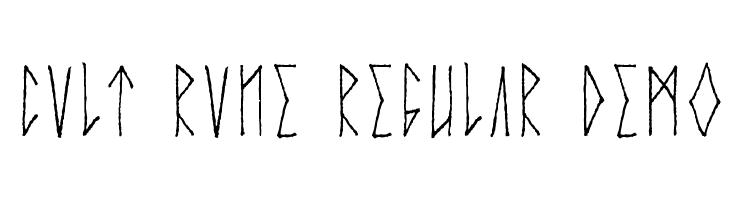 Cvlt Rvne Regular Demo  Free Fonts Download