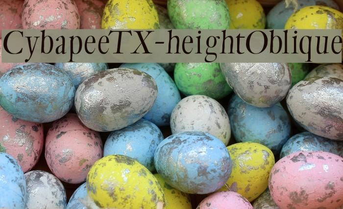 CybapeeTX-heightOblique Fonte examples