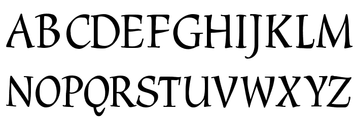 CyberCaligraphic Font UPPERCASE