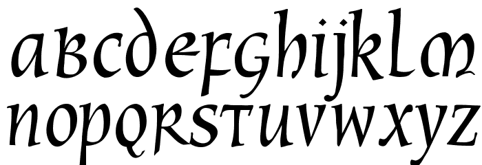 CyberCaligraphic Font LOWERCASE
