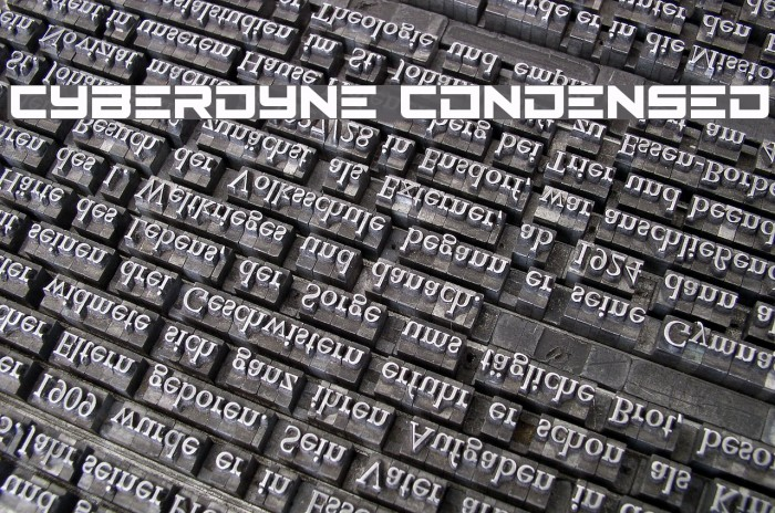 Cyberdyne Condensed Font examples