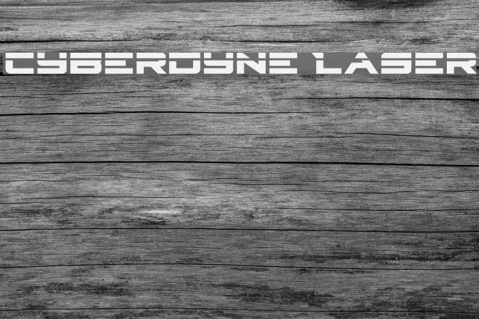 Cyberdyne Laser Caratteri examples