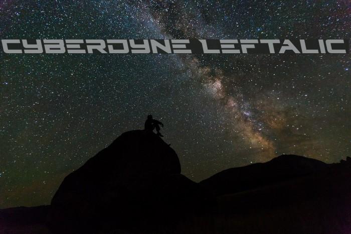 Cyberdyne Leftalic Fonte examples