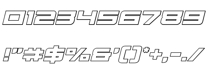 Cyberdyne Outline Italic Fonte OUTROS PERSONAGENS