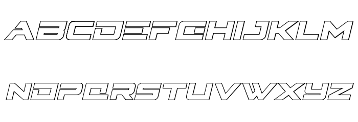 Cyberdyne Outline Italic フォント 小文字