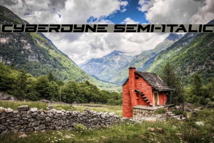 Cyberdyne Semi-Italic Caratteri examples