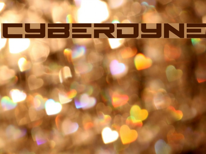 Cyberdyne Font examples