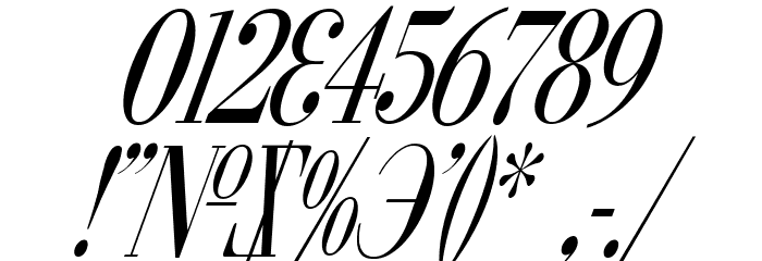 Cyberia Condensed Italic Font OTHER CHARS