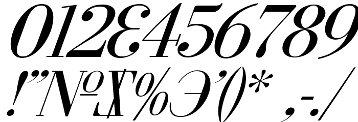 Cyberia Italic Font OTHER CHARS