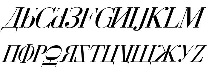 Cyberia Italic Font UPPERCASE