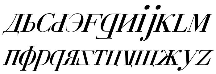 Cyberia Italic Font LOWERCASE
