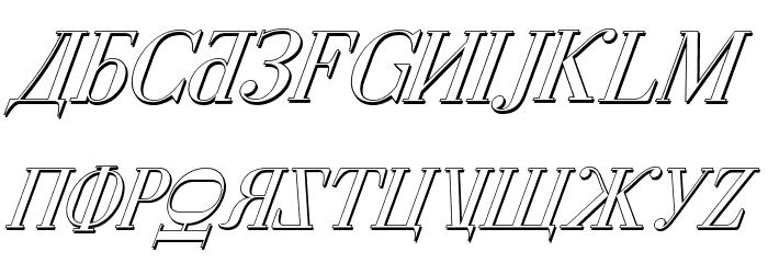 Cyberia Shadow Italic Font UPPERCASE