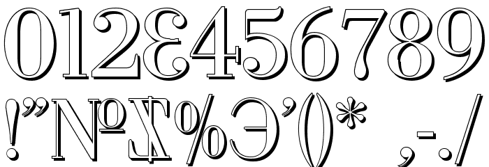 Cyberia Shadow Font OTHER CHARS