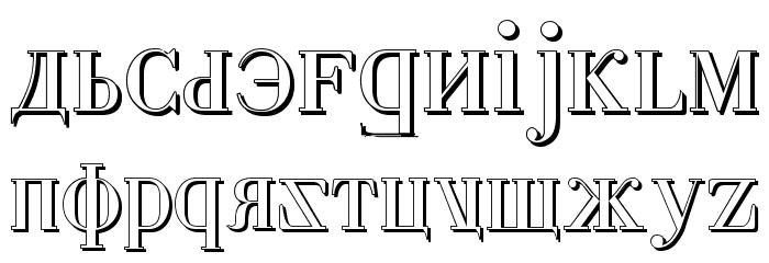 Cyberia Shadow Font LOWERCASE