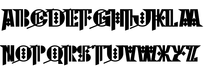 Cyberpunk Sealion フォント 大文字