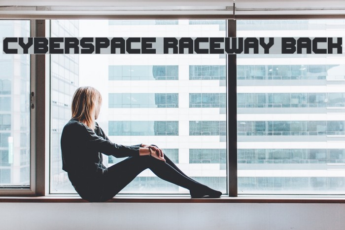 Cyberspace Raceway Back Font examples