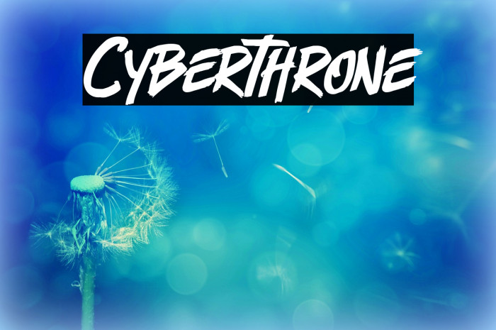 Cyberthrone Font examples