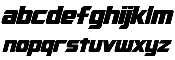 Cybertron Bold Italic Шрифта строчной