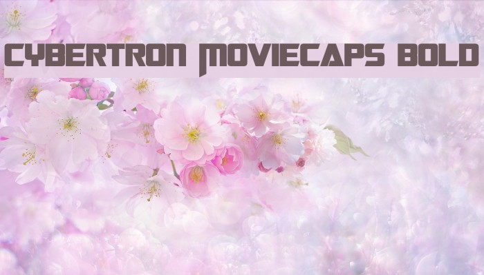 Cybertron Moviecaps Bold Шрифта examples
