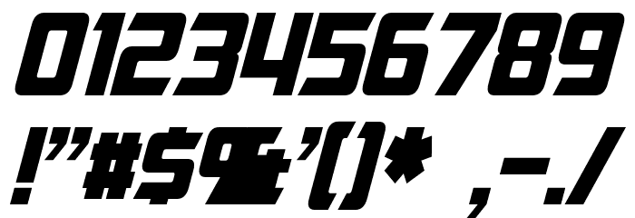 Cybertron Moviecaps Italic Font OTHER CHARS