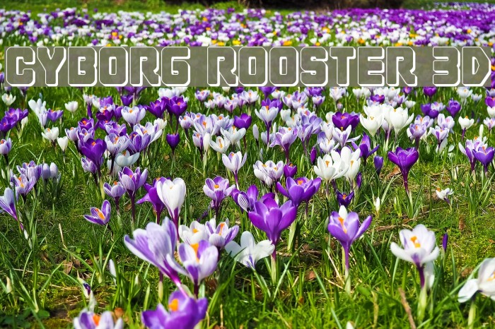 Cyborg Rooster 3D Font examples