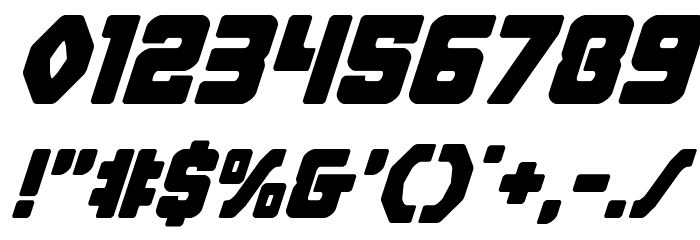 Cyborg Rooster Super-Italic Font OTHER CHARS