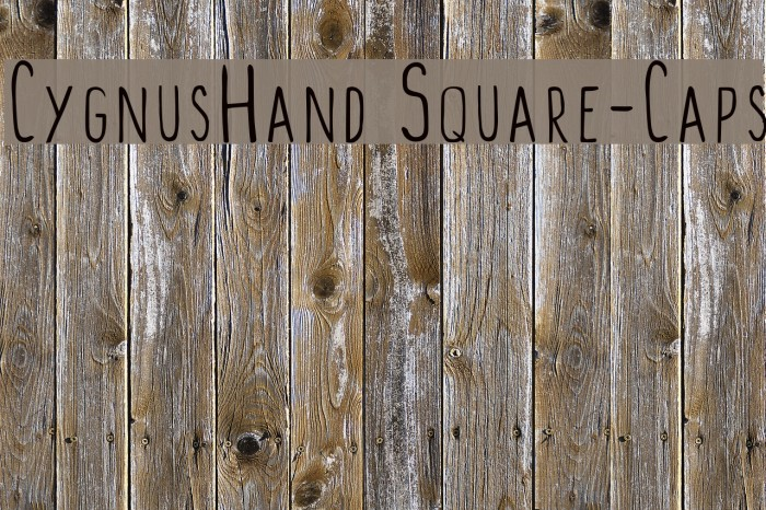 CygnusHand Square-Caps Font examples
