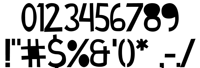 Cymo Bold Font OTHER CHARS
