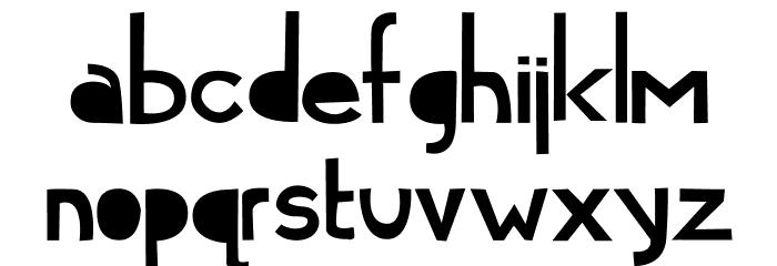 Cymo Bold Font LOWERCASE