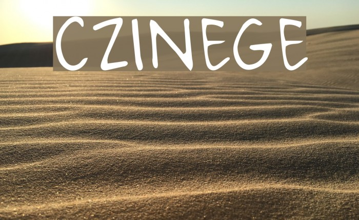 CZINEGE Font examples