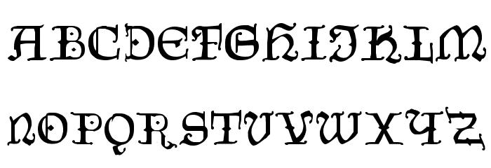 CzechGotika Font UPPERCASE