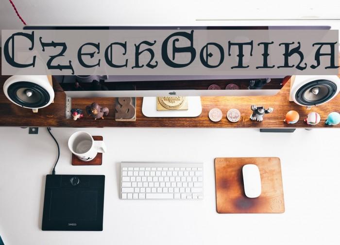 CzechGotika Font examples