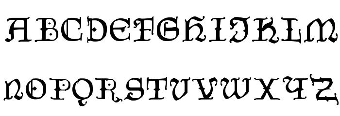 CzechGotika Font LOWERCASE