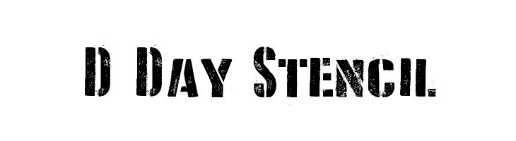 D Day Stencil  Free Fonts Download