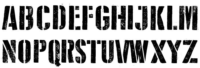 D Day Stencil Font Litere mari