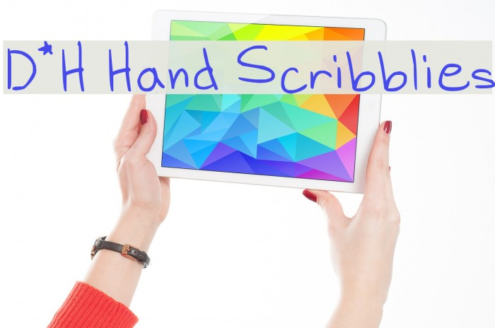 D*H Hand Scribblies Fonte examples