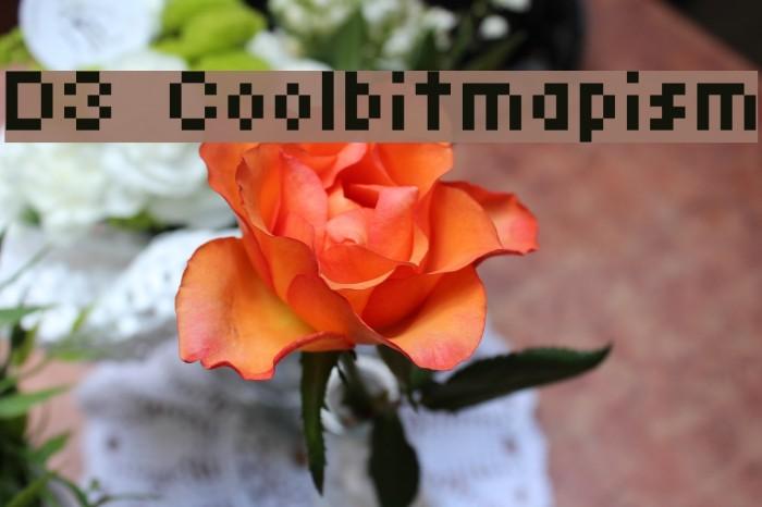 D3 Coolbitmapism Font examples