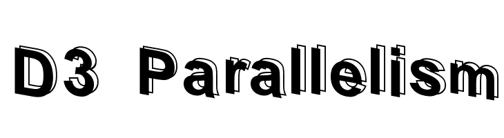 D3 Parallelism  Free Fonts Download