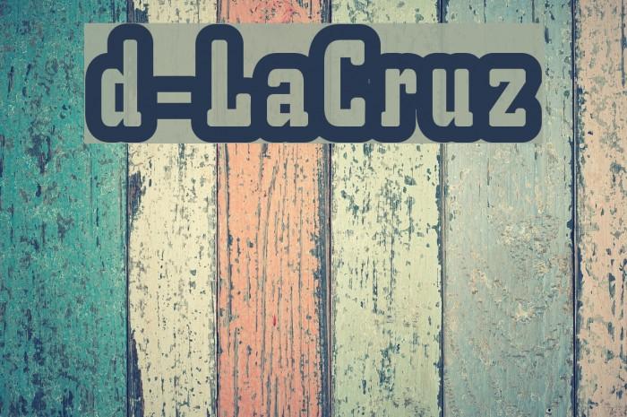 d-LaCruz फ़ॉन्ट examples