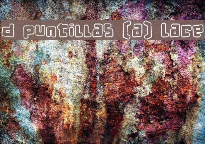 d puntillas [a] Lace Font examples