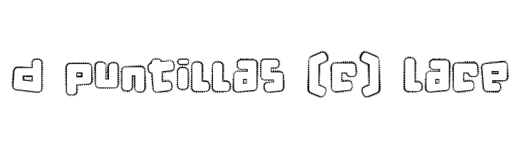 d puntillas [c] Lace  Free Fonts Download