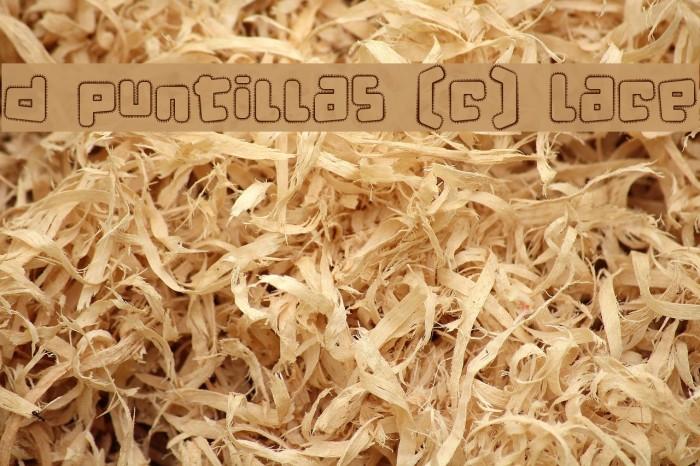 d puntillas [c] Lace Font examples