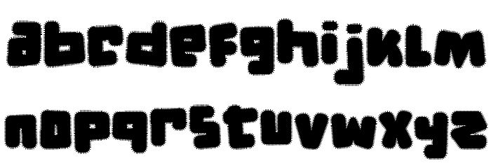 d puntillas [f] tiptoes squid Font LOWERCASE