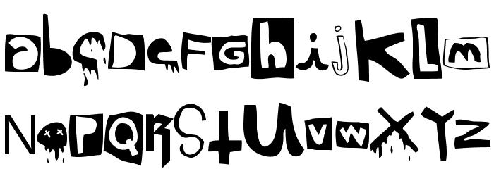 DaPunk Шрифта строчной