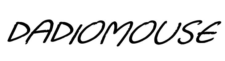 Dadiomouse  Скачать бесплатные шрифты