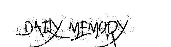 Daily memory  Free Fonts Download