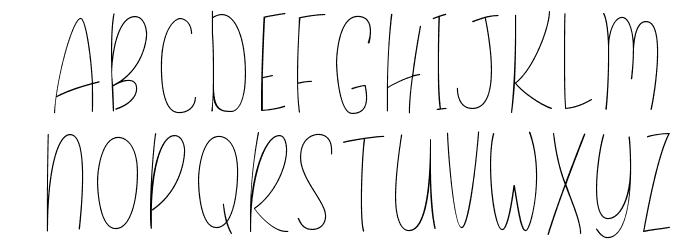 Daisy Rae Thin Font UPPERCASE