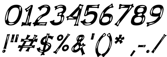 Dalmata Dream Bold Italic Font OTHER CHARS