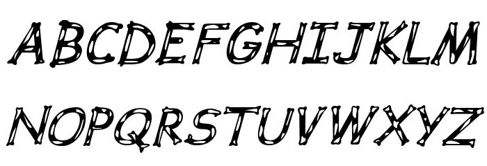 Dalmata Dream Bold Italic Font UPPERCASE